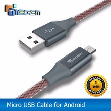 TIEGEM Micro USB Cable for Samsung S3/S4/S5/S6/S7 HTC SONY Android 3m 2m Fast Charge Nylon USB Charger Cable Phone Accessories