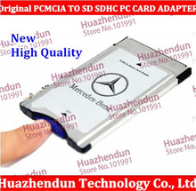 10PCS/lot NEW Original PCMCIA TO SD SDHC PC CARD ADAPTER for Mercedes with case freeshipping High Quality