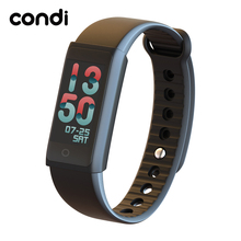 Condi Original R03S Smart Wristband with 0.96 inch Color LCD Wireless USB Charging support Heart Rate Monitor Fitness Bracelet(China)