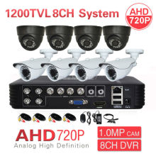 Home CCTV 8CH 1080P 3-IN-1 DVR HVR NVR AHD 720P 1200TVL Security Camera System IR CUT P2P PC Phone Mobile View Surveillance Kit
