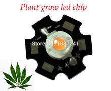 1w 3w full spectrum led grow chip 3w 400-840nm high power grow led,20mm star led pcb 3w for diy grow light kits(China)