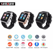 SOWMOW PW308 Smart Watch AndroidWatch Dual Core 512M RAM 4G ROM with 3G WiFi GPS SIM Camera Wristwatch For iOS Android(China)