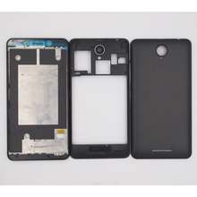 BaanSam New LCD Front Frame Middle Frame Battery Back Cover For Lenovo A5000 Housing Case With Antenna No Camera Lens No Buttons