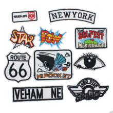 1PCS Mixed Embroidered Logo Patch Appliques Iron On Patches Clothing Garment Bag Hat Appliques Accessory For Sticker Clothes