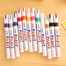 Markers Paint Marker For Sharpie 12 Colors Tyre Permanent Paint Pen Tire Metal Outdoor Marking Ink Marker - Random Color K1422(China)