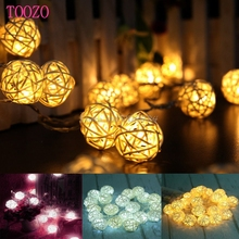 20LED Rattan Ball Battery String Fairy Lights Xmas Party Wedding Lamp #S018Y# High Quality