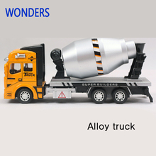 Pull Back Model Car Transport Truck Alloy Metal  Cement tanker alloy truck model children gift educational toy