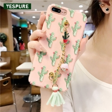 YESPURE Colorful Painting Cell Phone Accessories For Iphone 7 8 Fashion Full Protective Cheap Phone Covers(China)