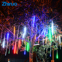10PCS Led String Light Meteor Shower Rain Tubes DC 12V led lighting outdoor light string Waterproof Falling star light string