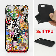 Cartoon Network Mix Phone Cases Soft TPU For iPhone 6 7 Plus SE 5S 4S Touch 6 For Samsung Galaxy S8 Plus S7 S6 Edge S4 S5 Note 5(China)