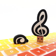 Music note Cartoon Flash Disk Memory USB USB Flash Drive 128GB 64GB 32GB 16GB 8GB 4GB Pen Drive Pendrive USB Pens Stick(China)