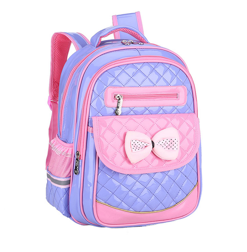Childrens Backpack Fashion Girls Princess School Bag Backpack for Grade 1~6 Cute Bow Waterproof Book Bag for Kids Girls Mochila<br>