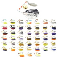 wLure Fishing Lure Spinnerbait 60 strands silicone skirts 15g F1 to 227 SP101(China)