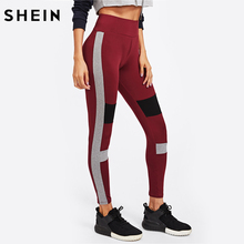 Buy SHEIN Workout Leggings Color Block Cut Sew Fall Leggings Activewear Women Casual Fitness Womens Leggings Pants for $11.97 in AliExpress store