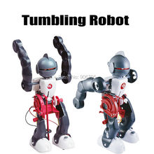 Action Figures Tumbling Robot experiment DIY assembling 3-Mode Assembly Toy Kit DIY Electric Robotics Creative Educational Toys(China)