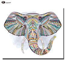 CHENFART Modern Canvas Oil Painting Abstract elephant Head Animal Decorative Paintings Wall Pictures for Living Room(China)