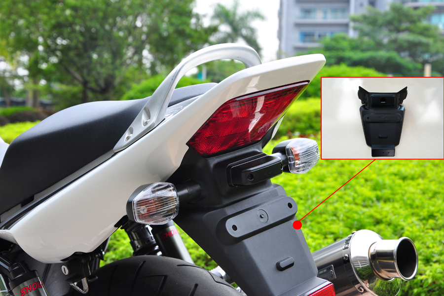 Wotefusi ABS Injection Rear Tail Fender Mud Flap Guard For Honda CB400 V-TEC 2004-2013[ZX02]<br>