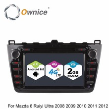 1024*600 Octa Core 2GB RAM Android 6.0 Car GPS DVD Player Fit Mazda 6 Ruiyi Ultra 2008 2009 2010 2011 2012 4G Wifi Radio Stereo