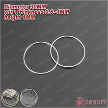 Wholesale Diameter 30mm Thickness 0.8mm Antique Bronze /Imitation Rhodium/ Gold Color Round Brass Closed Rings 20 pieces(JM7158)
