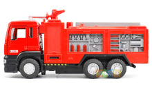 Water tank fire rescue car alloy engineering vehicle fire truck car model sound and light back power 5001 boxed