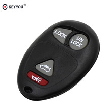 KEYYOU 4 (3+1) Buttons New Remote Car Key Shell Case Fob For GM/Chevy/Buick Rendezvous 2002 - 2007(China)