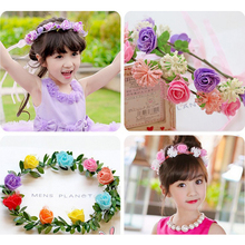 Fashion Flowers Wreath Headband Artificial Flowers Accessories Women Floral Hair band Fine Headwear Girls Decorations Suppliers(China)