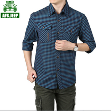 HROS Recommend AFS JEEP Summer/Spring Mans Grip Cotton Shirts Very Good Quality Mans Leisure Shirt Full Sleeve motorcycle Shirts