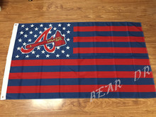 American Stars and Stripes MLB Atlanta Braves baseball team flag 3X5FT advanced high-quality 100D polyester Free Shipping
