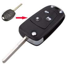 2pieces/lot 3 Buttons Modified Car Flip Remote Key For Ford Focus Key Case Fobs Replacements