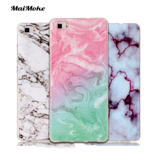 Luxury For Huawei P9 Lite Case Silicone Marble Painting For Huawei P8 Lite Case Art TPU Soft Back Phone Cover(China)