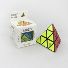 YongJun YJ YuLong Pyraminx Puzzle Cube Triangle Pyramid ABS Plastic 98mm Magic Cube Puzzles Educational Toys For Children Kids(China)