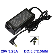 Laptop AC Adapter For LS 20V 3.25A 5.5*2.5 For FUJITSU Averatec 3220 AV3100 ADVENT 1115C Notebook Power Supply Charger