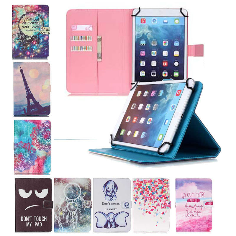 10 inch Leather Tablet Cover Case For RoverPad Tesla 10.1 inch Universal Cover Printed Tablet Stand cases+3 Gifts<br><br>Aliexpress