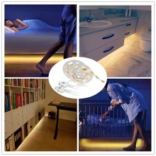 Amagle Dimmable Motion Sensor Activated Bed Light LED Night Light Strip with Automatic Shut Off Timer Bedroom Cabinet Light