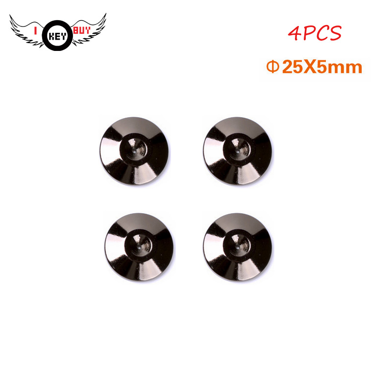 High-grade pure copper 24K black nickel sound speaker shelf tripod rack shock-nails foot pad film washer0