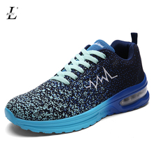 Autumn Winter Men's Sport Sneakers Outdoor Running Shoes Male Mesh Upper Athletic Shoes Warm Thicken Zapatos De Hombre