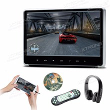 XTRONS 1pc Monitor 11.6 inch HD Digital TFT Touch Panel 1080P Video Car Headrest DVD Player HDMI Port FM USB GAME+1 Headphones(China)