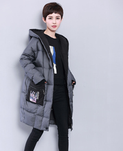 2017 winter new winter clothes down jacket women in the long paragraph loose thin hat hood thick coat fashion lady down jacket