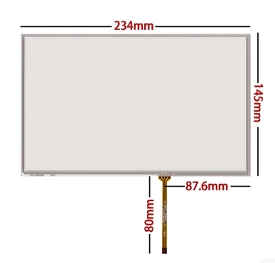 New 10.2 Inch Touch Screen 10.1 inch AT102TN03 V.8 V.9 screen screen free shipping 234*145<br>