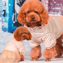 Pet down jacket than teddy bear dog cotton-padded clothes Dog clothes cotton pet clothing
