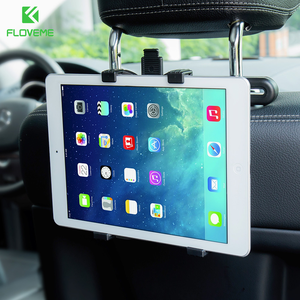 "FLOVEME 7""-11"" Car Back Headrest Mount Stand Holder For iPad Mini 1 2 3 4 5 Air 2 360 Degree Rotate Tablet Accessories Bracket(China)"