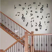 New Arrival Large Home Decor Adesivo De Parede Fashion Music Note In The Wall Stickers Violin Musical Instrument Child Real