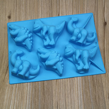Silicone cake mold 6 holes dinosaur silicone jelly pudding mold silicone chocolate molds E741(China)