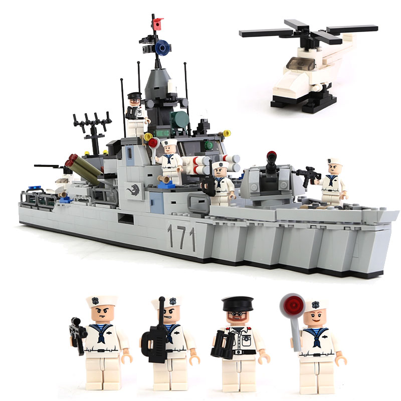 GUDI Military Educational Building Blocks Toys For Children Kids Gifts Army Battleship Boat Helicopter <br>