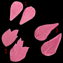 Petal Embossing Mold Leaves Fondant Silicone Mold Cake Decorated Candy Cake 3d Food Grade Silicone Diy Baking