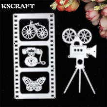 KSCRAFT Film And The Projector Metal Cutting Dies Stencils for DIY Scrapbooking/photo album Decorative Embossing DIY Paper Cards(China)