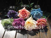 5pcs/lot Table flower furnishing articles Silk Roses Wedding bride holding flowers single oil  dream rose ,7 Colors Available