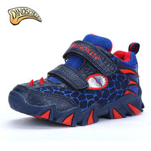 Dinoskulls Kids High Top Sneakers Brand Kids Shoes Boys Sport Sneakers 2017 Leather Children 3D Dinosaurs Sneakers(China)