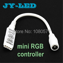 10pcs/lot Mini RGB Controller Dimmer With DC Female Adapter 12V 12A 144W 3 Keys 19 Modes 20 Colors For 5050 3528 RGB LED Strip