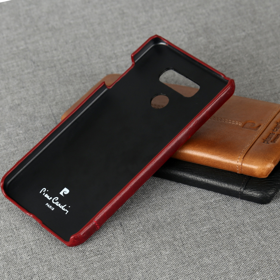 For LG G6 Case Luxury Genuine Leather Hard Slim Cover (3)